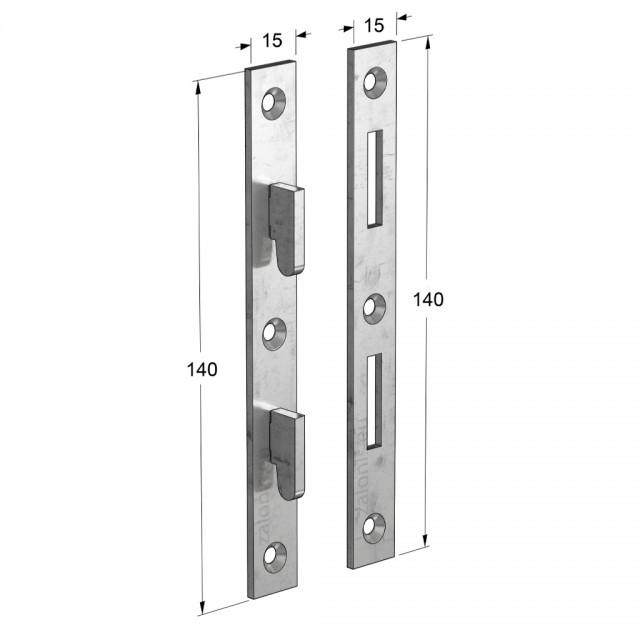 BUILD-IN BED FRAME BRACKET 140mm (SET 4 PCS)